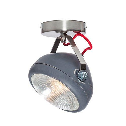 Lichtlab spot vintage koplamp No.7 grijs