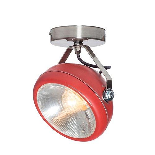 Lichtlab spot vintage koplamp No.7 rood