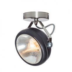 Lichtlab spot vintage koplamp No.7 zwart