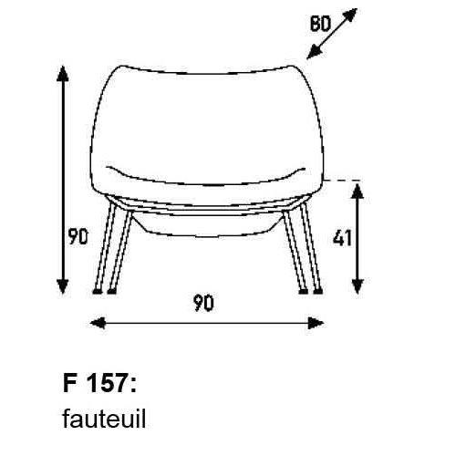 Artifort Fauteuil Oyster F157