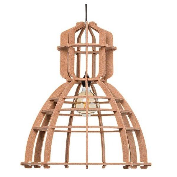 Lichtlab hanglamp No.19 XL PET felt - nude