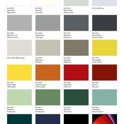 Standaard RAL kleuren Müller