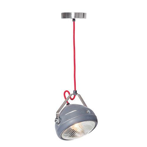 Lichtlab hanglamp vintage koplamp No.5 grijs