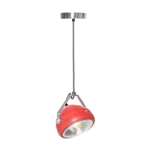 Lichtlab hanglamp vintage koplamp No.5 rood