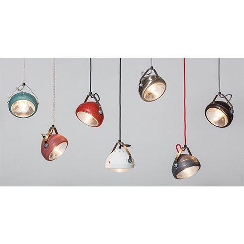 Lichtlab hanglamp vintage koplamp No.5 - set 1
