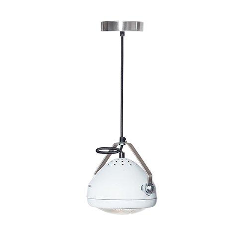 Lichtlab hanglamp vintage koplamp No.5 wit