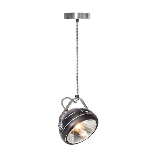 Lichtlab hanglamp vintage koplamp No.5 zwart