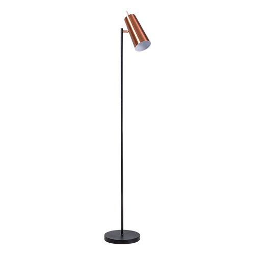 ETH staande lamp Brooklyn - zwart/koper