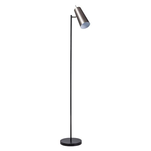 ETH staande lamp Brooklyn - zwart/staal