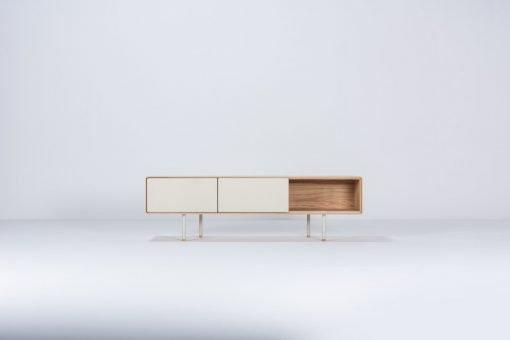 Gazzda tv-meubel Fina (lowboard) 160 mushroom front