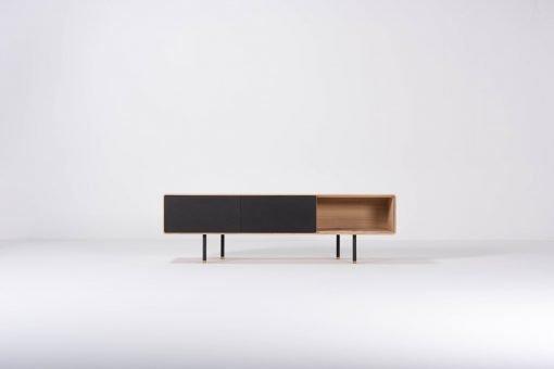 Gazzda tv-meubel Fina (lowboard) 160 nero front