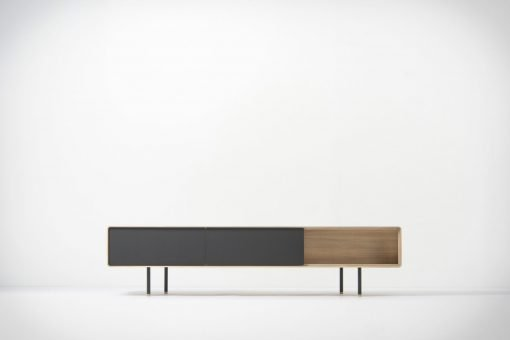 Gazzda tv-meubel Fina (lowboard) 200 nero front