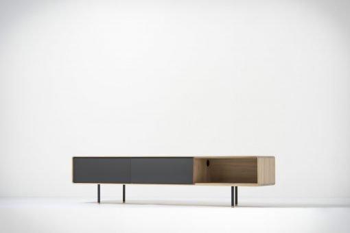 Gazzda tv-meubel Fina (lowboard) 200 nero side