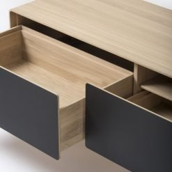 Gazzda tv-meubel Fina (lowboard) nero detail 1