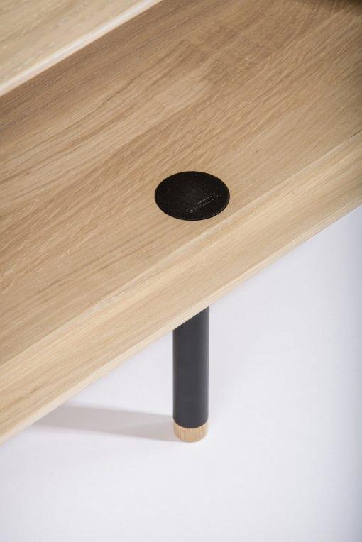 Gazzda tv-meubel Fina (lowboard) nero detail 3
