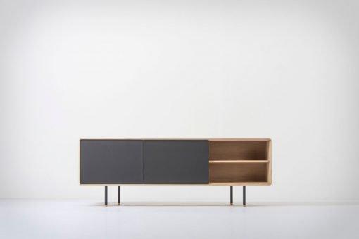 Gazzda tv-meubel Fina 180 (sideboard) nero front