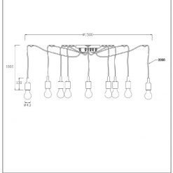 Lucide hanglamp Fix Multiple 10-lichts