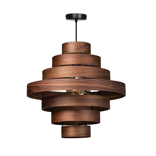 ETH hanglamp Walnut - 7 ringen