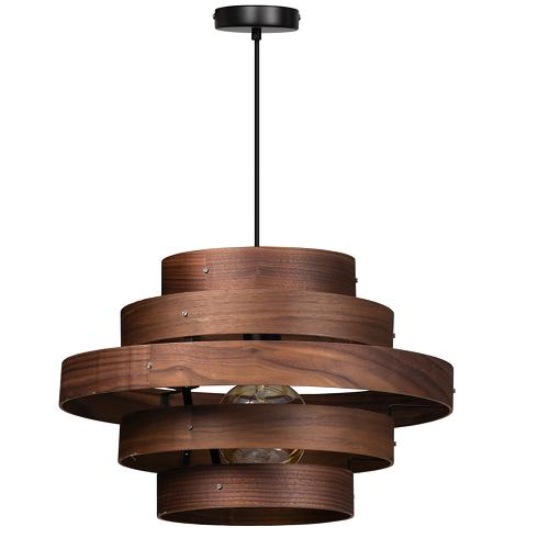 ETH hanglamp Walnut - 5 ringen