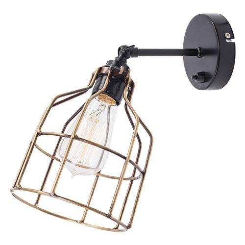 Lichtlab wandlamp No.15 kooi zwart - brons