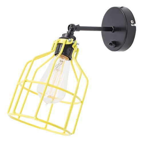 Lichtlab wandlamp No.15 kooi zwart - geel