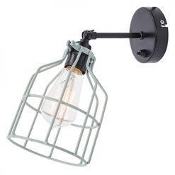Lichtlab wandlamp No.15 kooi zwart - grijs-groen
