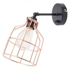 Lichtlab wandlamp No.15 kooi zwart - koper