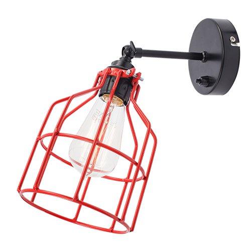 Lichtlab wandlamp No.15 kooi zwart - rood