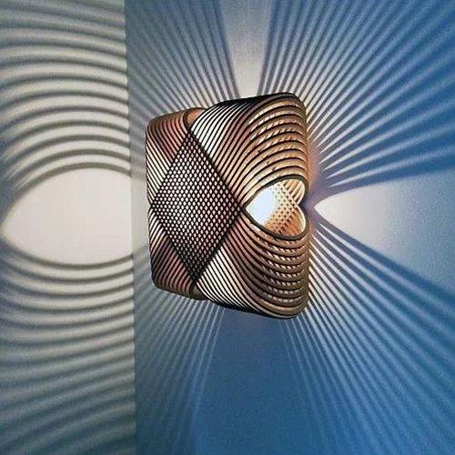 Lichtlab wandlamp No.39 Ovals - schaduw