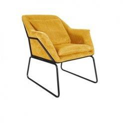 Leitmotiv fauteuil Glam - okergeel