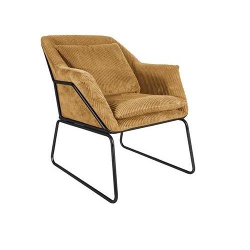Leitmotiv fauteuil Glam - caramel bruin