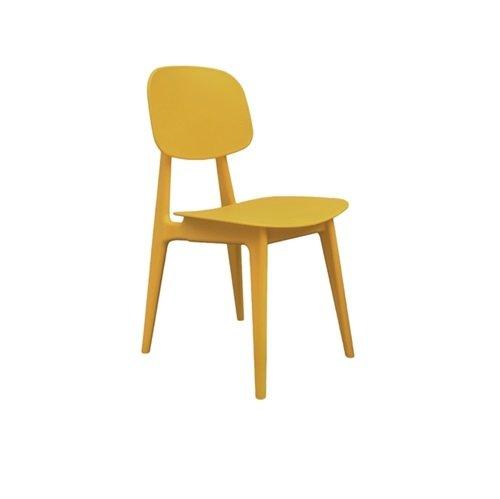 Leitmotiv stoel Chair vintage look - geel
