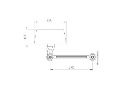 Tonone Bold wandlamp underfit sizes