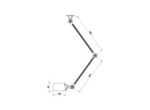 Tonone Bolt plafondlamp double arm sidefit sizes