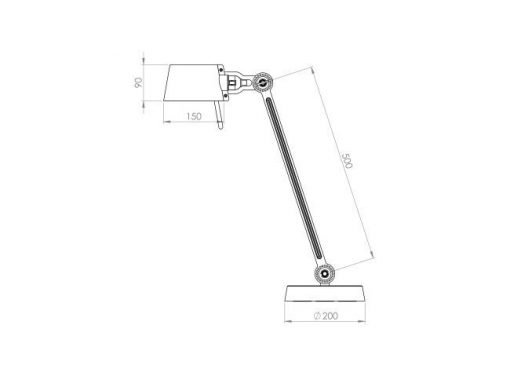 Tonone Bolt bureaulamp single arm sizes