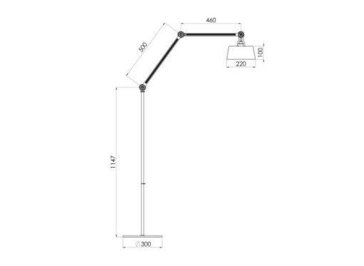 Tonone Bolt staande lamp double arm long sizes
