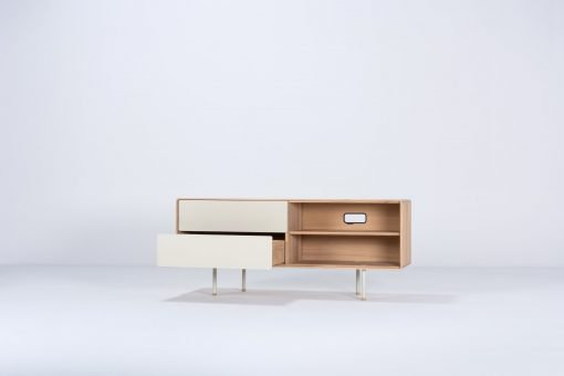 Gazzda tv-meubel Fina 150 (sideboard) mushroom open 1