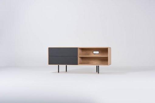 Gazzda tv-meubel Fina 150 (sideboard) nero front