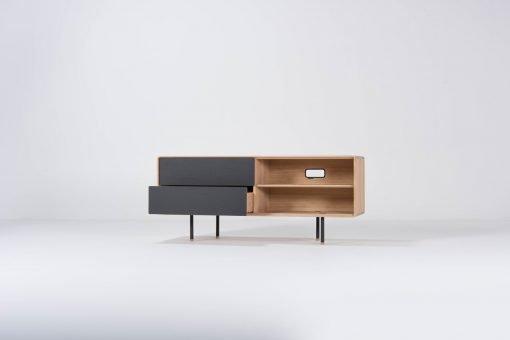 Gazzda tv-meubel Fina 150 (sideboard) nero open 1