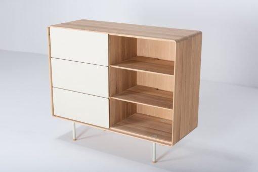 Gazzda dressoir Fina 118 (dresser) mushroom front drawers