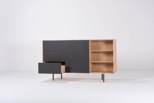 Gazzda dressoir Fina 176 (dresser) nero front open 1