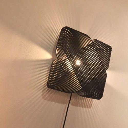 Lichtlab wandlamp No.39 Ovals black - detail