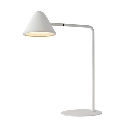 Lucide bureaulamp Devon wit - aan