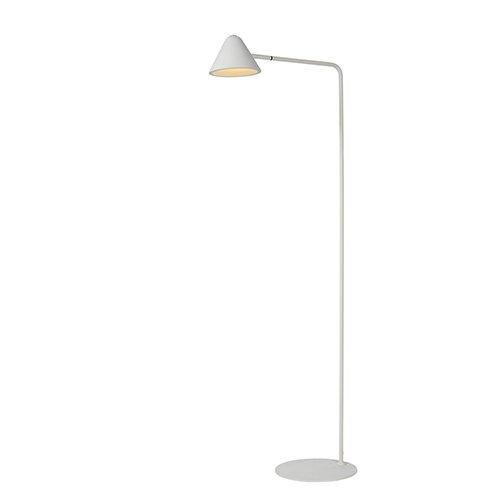 Lucide leeslamp Devon wit - aan