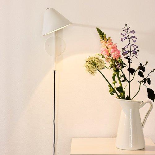 Lucide wandlamp Devon wit - sfeer