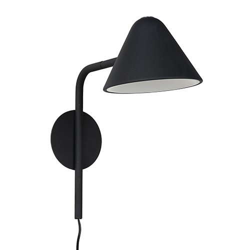 Lucide wandlamp Devon zwart - uit