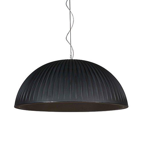 Formadri hanglamp Basic Dome Rib - zwart