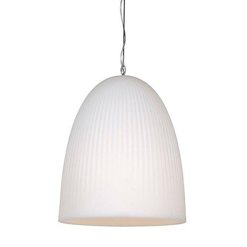 Formadri hanglamp Bell Dome Rib - wit