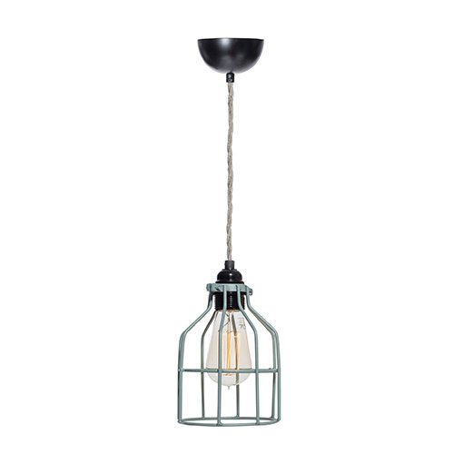 Lichtlab hanglamp No.15 kooi grijs-groen