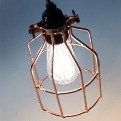 Lichtlab hanglamp No.15 kooi koper - detail 2
